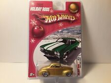 Hot Wheels Holiday Rods '40 Ford Coupe Gold With Real Riders