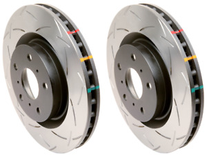 DBA Front T2 Slotted Brake Rotors (Pair) For Mazda 07-13 Mazdaspeed3