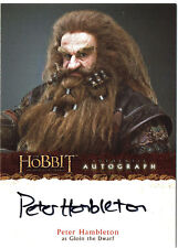 The Hobbit An Unexpected Journey Autograph Card A10 Peter Hambleton as Gloin