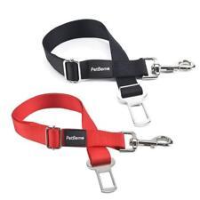 Car Seat Belt For Dog Cat 2 Packs Adjustable Seatbelt Pet Black Red Pink Blue