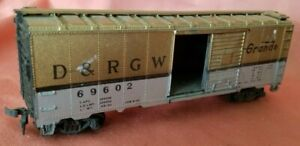 Z1 HO TRAIN CAR BOX D&RGW RIO GRANDE GOLD AND SILVER 69602