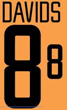 Holland Davids Nameset 2002 Shirt Soccer Number Letter Heat Print Football A