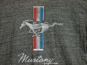 Ford Mustang Charcoal Tshirt Adult Size XL Official Licensed Product