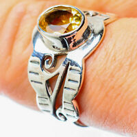 Citrine 925 Sterling Silver Ring Size 8 Ana Co Jewelry R25592F