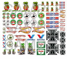1:64  WATER-SLIDE DECALS FOR HOT WHEELS, MATCHBOX, SLOT CAR: