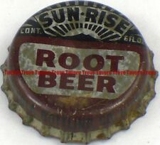 1940s Minnesota HUTCHINSON Coca Cola Bottling SUN-RISE ROOT BEER Cork Crown