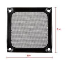 80mm Stainless Mesh Fan Filter Dustproof for PC Computer Case Fan - Black
