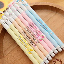 Cute Milk Bottle Erasable Gel Pen Blue Ink Ballpoint School Study Office Supply