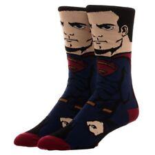 Oficial Dc Comics JUSTICE LEAGUE SUPERMAN PERSONAJE Adulto Calcetines Acanalados