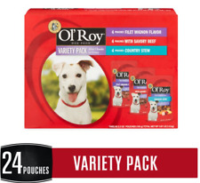Ol' Roy Mini Chunk in Gravy Wet Dog Food Variety Pack 5.3 Oz 24 Pouches Beef