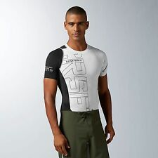 Mens New Reebok Crossfit T Shirt Training Mid Weight Compression S/S L Large