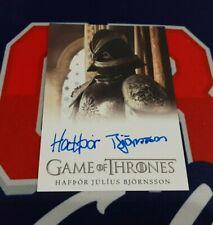 2020 The Complete Game of Thrones Hafpor Julius Bjornsson FB Autograph