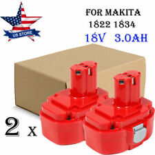 2 Pack New 18V 3.0AH Ni-Mh Battery for Makita Tools 1822 1823 1833 1834 PA18 US