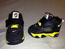 NEW AIR SPEED TURF SZ 4C INFANT TODDLER DEION SANDERS YELLOW BLACK WHITE