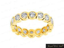 Genuine 0.66Ct Round Diamond Eternity Anniversary Band Ring 14k Yellow Gold G SI