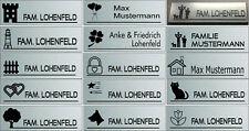 Schild Briefkasten Tür Klingel Wunschnamen und Motiv Edelstahloptik  Sondergröße