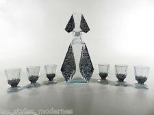 ZIMMER & SCHMIDT Bohemia Art Deco Glas ° Kristallglas Karaffe + 6 Gläser