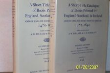 A Short-Title Catalog of books printed in England, Scotland, and Ireland H/C