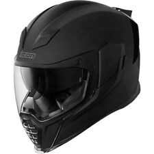 Icon Airflite RUBATONE Full-Face Helmet w / Dropdown Visor (Matte Black) Size M