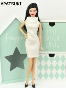 """Fashion White 1:6 Dress For 11.5"""" Doll Evening Dresses Clothes For 1/6 Dolls Toy"""