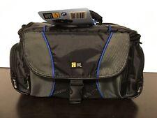 Case Logic DSLR / Camcorder / Camera Bag - Padded Black w/ Blue Interior -NEW