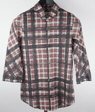 Burberry Brit sz XS nova plaid check blouse black red