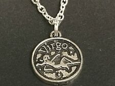 "Zodiac Virgo Charm Tibetan Silver Necklace 18"" BIN"