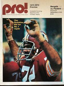 PRO 1973 NFC PREVIEW CINNCINATI BENGALS VS GREEN BAY PACKERS NFL PROGRAM