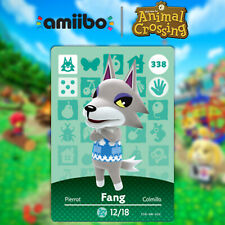 Fang Animal Crossing New Horizons NFC Card #338 amiibo Card Series 4 for Ns,3Ds