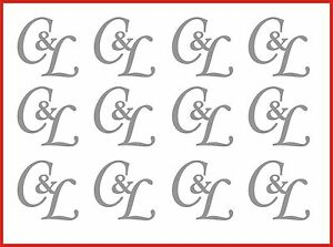 Personalised Sticky Back Initials letter x12 wedding stationery glass decoration
