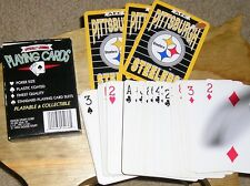 1994 NFL Licensed AFC Pittsburgh Steelers Deck Plastic Coated Playing Cards