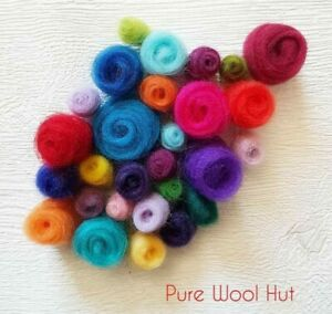 79 Colours 100% Pure Merino Wool Tops Roving for Dry and Wet Felting, 20 - 100 g