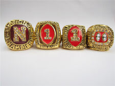 1983 1994 1995 1997 Nebraska Cornhuskers National Championship Ring Set Men Gift