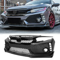 For 2016-2019 Honda Civic 10 TYPE R Front Bumper Grille Brow Lip Conversion Swap