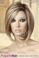 Trendy Modern Longer Front Asymmetrical Bob Lace Wig Soft Blonde Regrowth Stacke