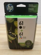 HP 61 Ink Cartridge Combo Black & Color 2-Pack NEW Genuine