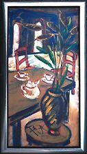 Felix Samuel Pfefferkorn *1945 RAR Tea-Room Interior Café 100 x 50 cm WVZ IV-53