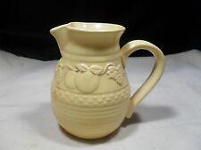 Yellow Embossed Ceramic Pitcher
