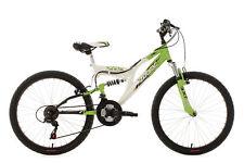 Mountainbike Fully 24 Zoll Zodiac Grün-Weiss Kinder MTB 18 Gänge RH 38 cm 602K