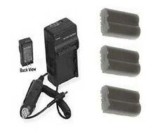 3X Batteries + Charger for Canon BP-508 BP-511 BP-512 BP-514 for EOS D30 D60 20D