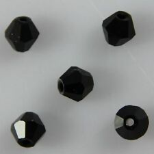 100pcs Swaro/vski 4mm Bicone Crystal beads A Black