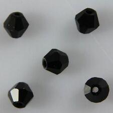 100pcs Swaro/vski 4mm Bicone Crystal beads C Black