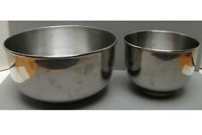 2 Vintage Stainless Steel Mixing Bowls Made in Korea
