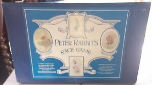 PETER RABBITS RACE GAME - VINTAGE RARE 1940S FREDERICK WARNE BOARD GAME COMPLETE