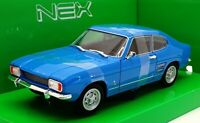 Welly Nex 1/24 Scale Model Car 24069W - 1969 Ford Capri - Blue