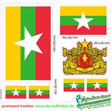 Myanmar off 2011 Car Boat Caravan Truck Bike Boat Sticker Laptop Flags Crest