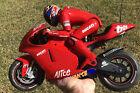 🏍 Used RC 2001 1/5 Nikko Ducati Desmosedici Motorcycle For Parts Or Repair 🏍