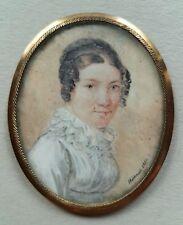 Miniatur Portrait, einer älteren Dame, Gouache, signiert Hartman 1817