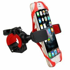 Motorcycle Bicycle MTB Bike Handlebar Mount Holder w/ Silicon Band F/ Cell Phone