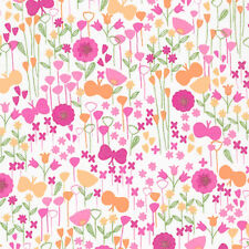 "ROBERT KAUFMAN ""LONDON CALLING 5"" BUTTERFLY Sorbet LAWN by yard"